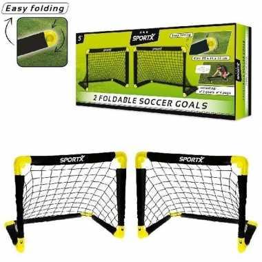 Set van 2 voetbal goals 55 x 44 x 44 cm