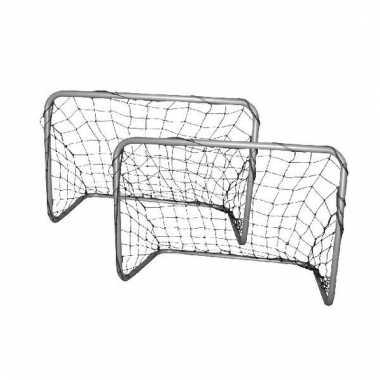 Set van 2 voetbal goals 77 x 56 x 45 cm