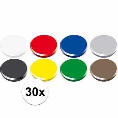 Setje koelkast magneten setje 24 mm.
