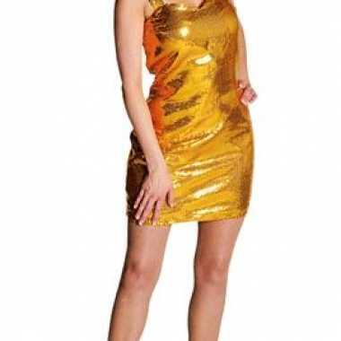 Sexy glitter jurk goud