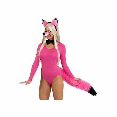 Sexy roze vossen verkleedsetje