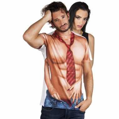 Sexy shirt met naakte man opdruk