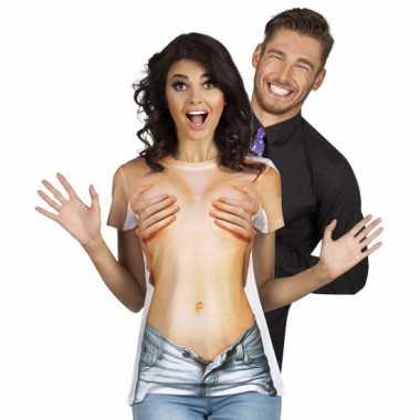 Sexy shirt met naakte vrouw opdruk
