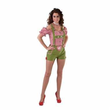 Sexy tirolerkleding lederhose groen