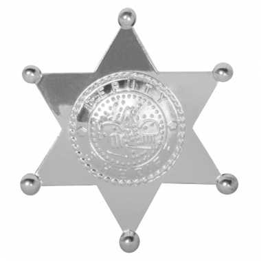 Sheriff badges ster zilver