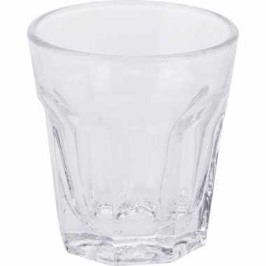 Shotjes glazen setje van 6x stuks