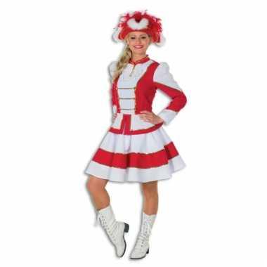 Showdans pakje voor dames rood met wit
