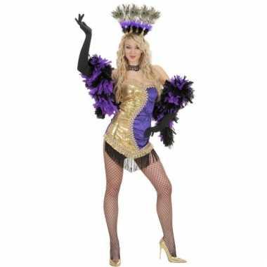 Showgirl kostuums paars/goud