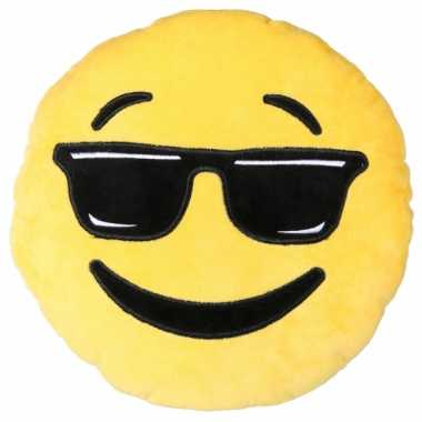 Sierkussen emoticon cool 30 cm