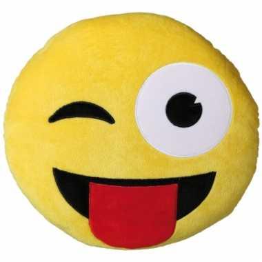 Sierkussen emoticon ontdeugend 30 cm