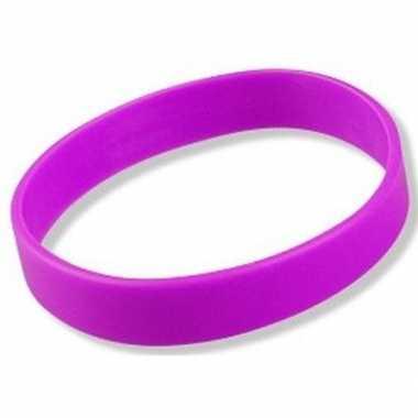 Siliconen armbandje paars
