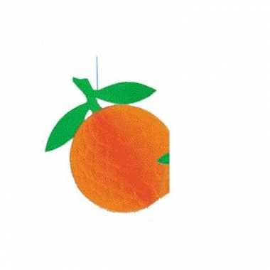 Sinaasappels decoratie van crepe papier