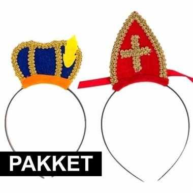 Sint en piet intocht accessoires pakket voor 2 personen