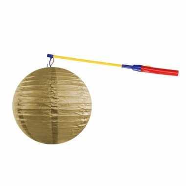 Sint maarten lampionset goud 35 cm