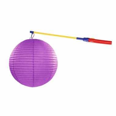 Sint maarten lampionset paars 35 cm