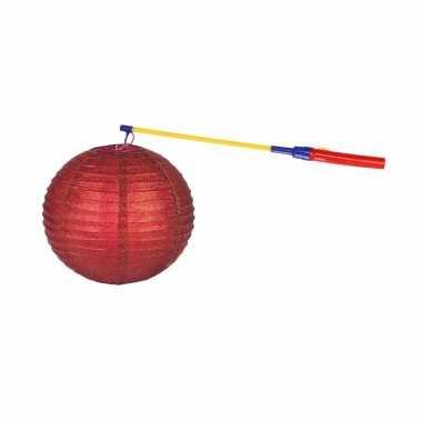 Sint maarten lampionset rood 25 cm