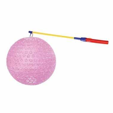 Sint maarten lampionset roze 35 cm