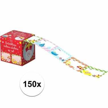 Sinterklaas kado stickers 150 stuks