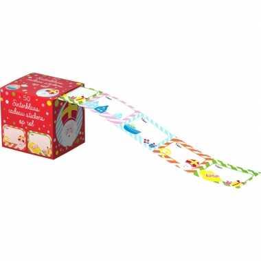Sinterklaas kado stickers 50 stuks