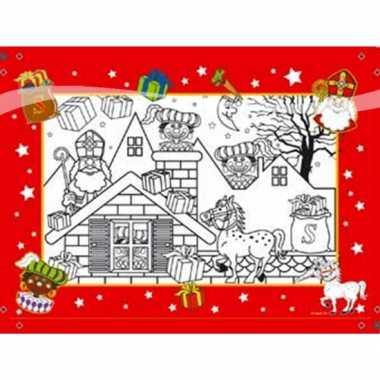 Sinterklaas kinder kleurplaten 6 stuks