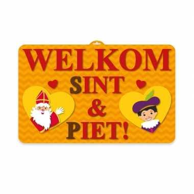 Sinterklaas wand bord 3d 58 x 38 cm