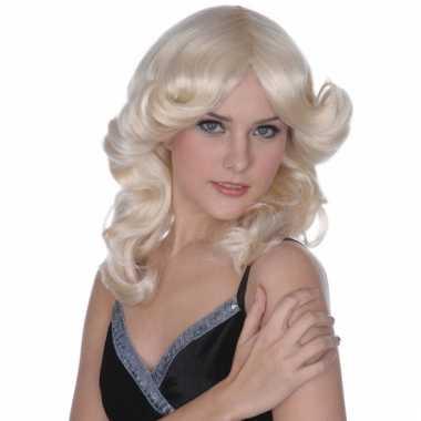 Sixties pruik blond haar