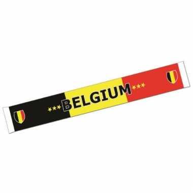 Sjaal met belgische vlag 150 cm