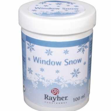 Sjabloon raamdecoratie sneeuw