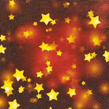 Sjieke kerst servetten met sterren