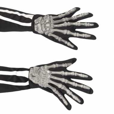 Skelet accessoire handschoenen volwassenen