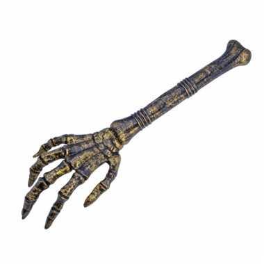 Skelet arm van plastic botjes