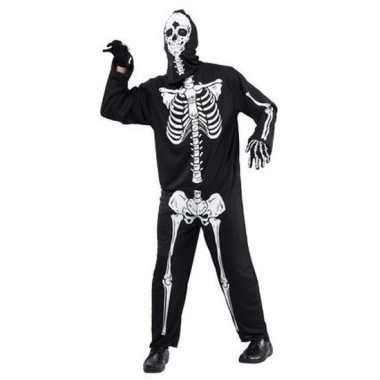 Skelet/doodshoofd verkleedkostuum voor dames en heren