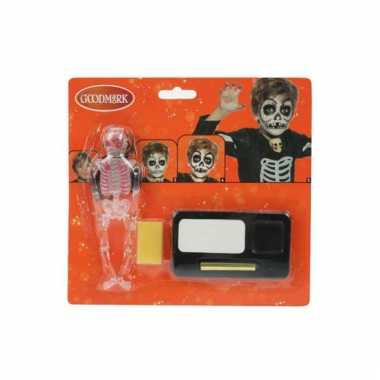 Skelet halloween schmink kit