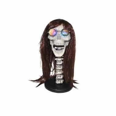 Skeletten hoofd met licht 43 cm