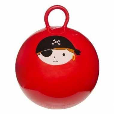 Skippybal rood met piraat 45 cm voor jongens