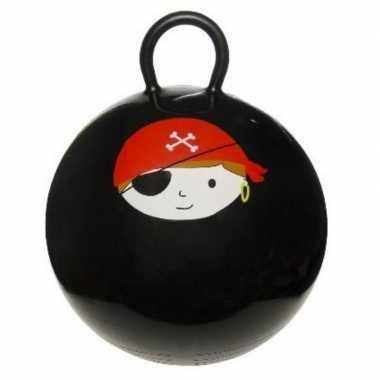 Skippybal zwart met piraat 45 cm voor jongens