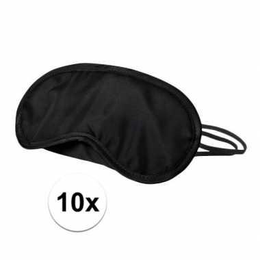 Slaapmaskers zwart 10x