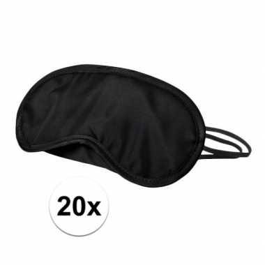 Slaapmaskers zwart 20x