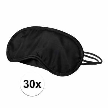 Slaapmaskers zwart 30x