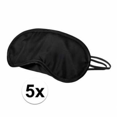 Slaapmaskers zwart 5 stuks