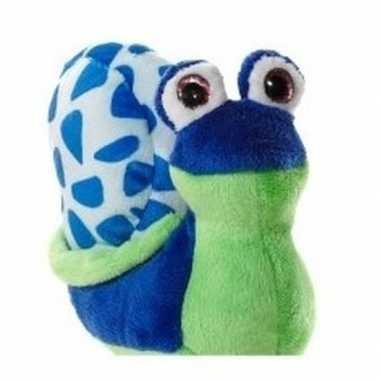 Slakje pluche blauw/groen 16 cm