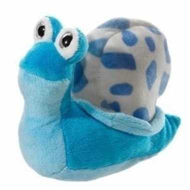 Slakje pluche lichtblauw 16 cm