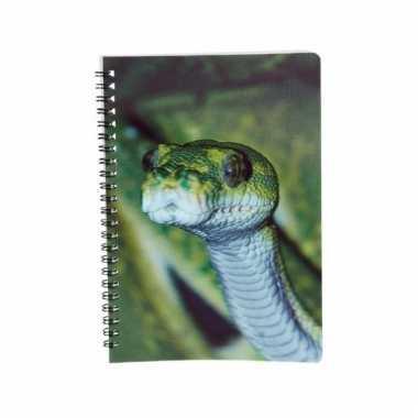Slangen schrijfboekje 3d 21cm