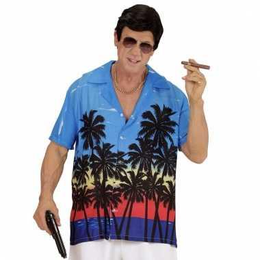 Slechterik kostuum foute blouse blauw voor heren