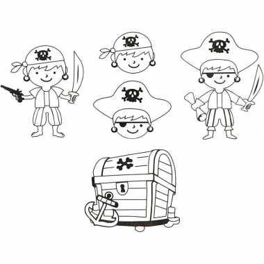 Sleutelhanger maken krimpfolie piraat sjablonen 4 vellen