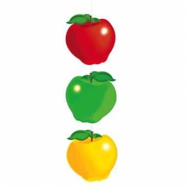 Slinger met drie gekleurde appels