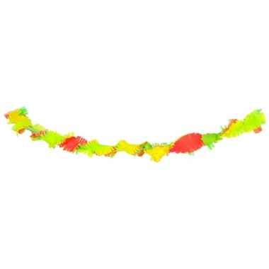 Slinger neon kleuren van crepe 6 meter