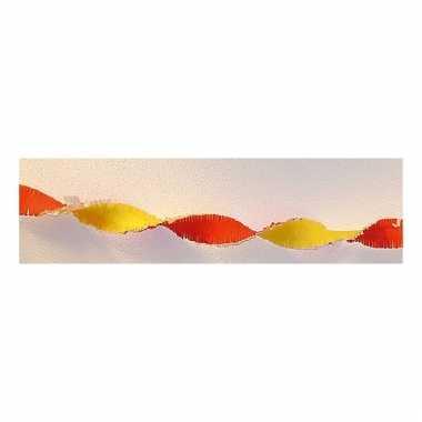 Slinger rood / geel van crepe 30 meter