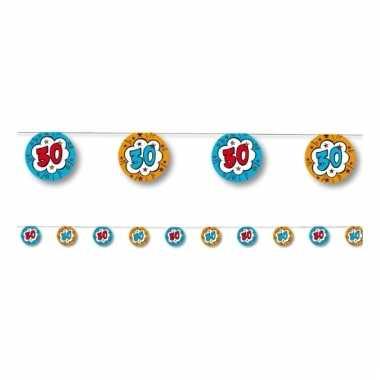 Slinger verjaardag 30 jaar blauw/oranje