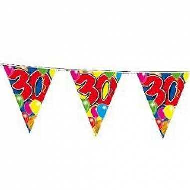 Slingers 30 jaar vlaggetjes